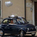 Sfilata della Fiat 500 a Firenze negli anni 50